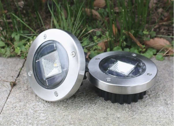 Stainless Steel Solar Step Lightss for pathway