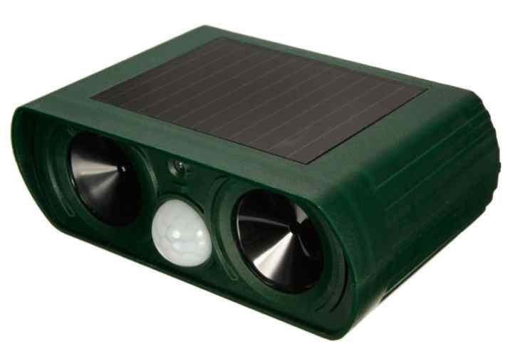 ultrasonic solar powered garden animal repeller